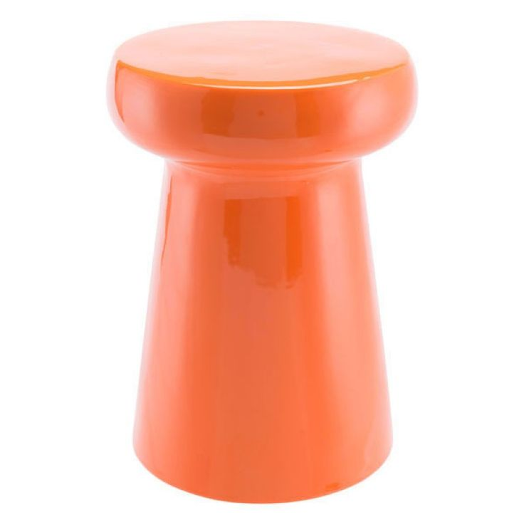 Anelegant accent inside or out, our chic garden stool in bright orange will add a touch of modern to any decor.Showcase it in your living room, bedroom, bathroom or outdoors on your patio, pool area or garden. Great looking as an individual piece or are super impactful in multiples.