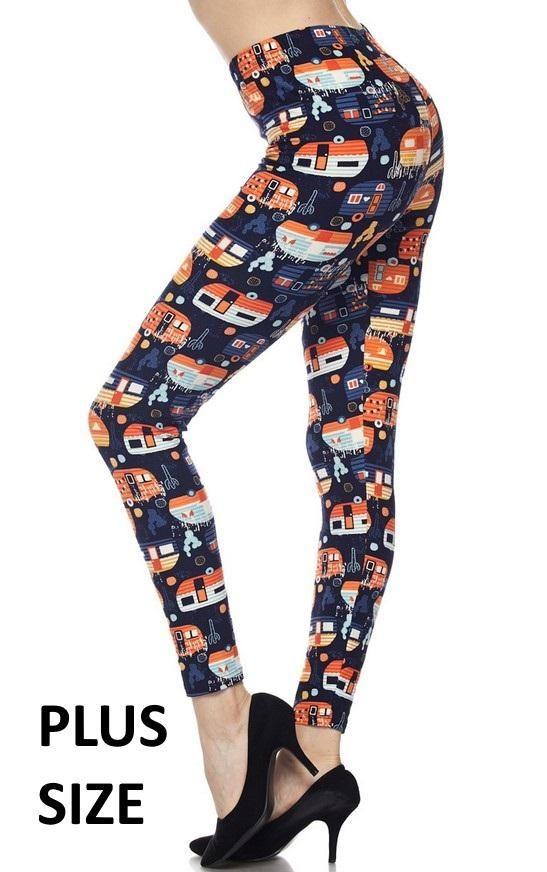 7f446ea92bdd1 PLUS - Happy Camper Leggings | Cari'sTreasureBox | Printed leggings ...