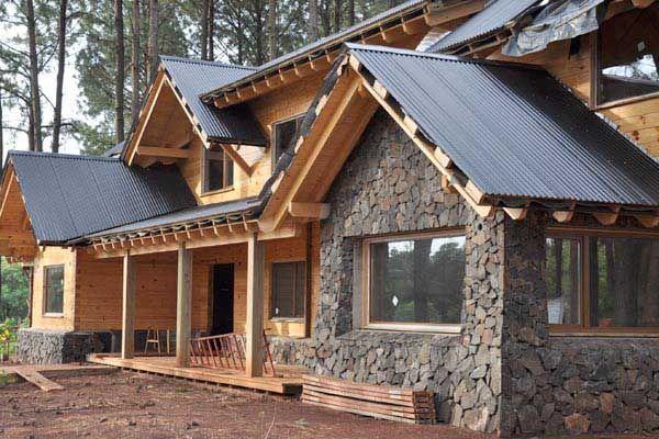39 mejores im genes sobre casas de madera en pinterest - Casas troncos de madera ...