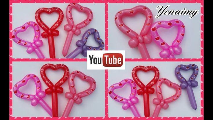 CORAZONES ROMANTICOS CON UN SOLO GLOBO 260 - YouTube