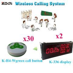 [ $77 OFF ] Restaurant Wireless Service Call System Wireless Electronic Voting Pager ( 2Pcs Display+ 30Pcs Call Button)