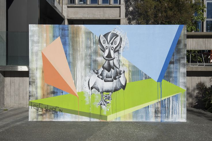 Quin the Duchess Duck, mural at The University of Canterbury, New Zealand.