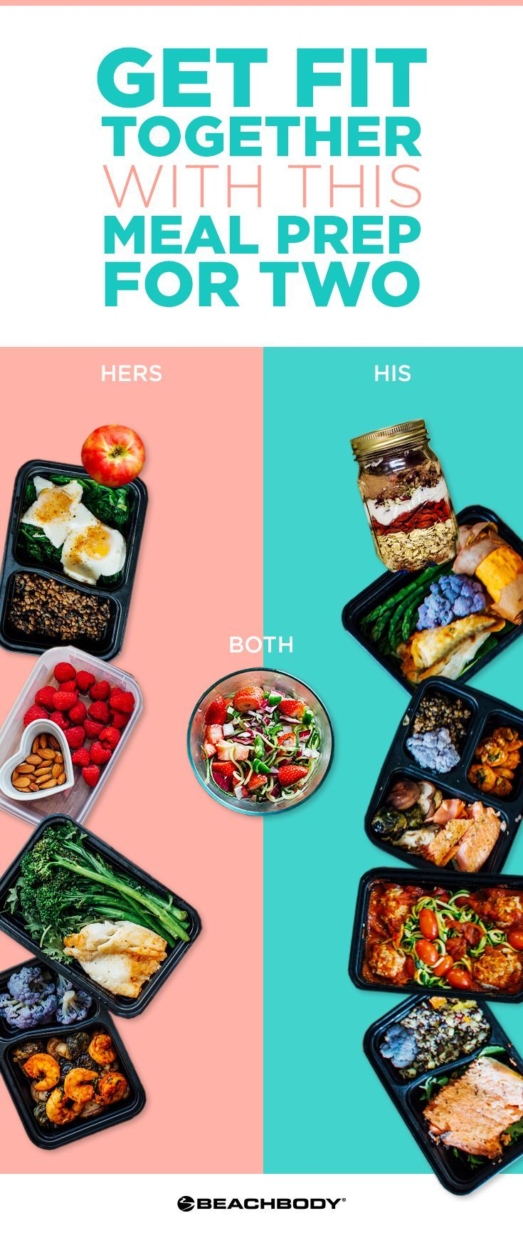 Check out this great meal prep for two! simple meal prep recipes! Perfect for staying healthy even when you're busy. #FITNESSPLAN