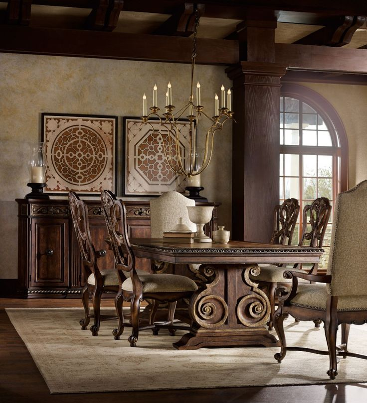 The Opulent Adagio Dining Room From Hooker Furniture