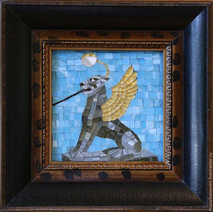 Купить Львиный мостик - комбинированный, мозаика, мозайка, стеклянная мозаика, стекло, смальта, виды Петербурга