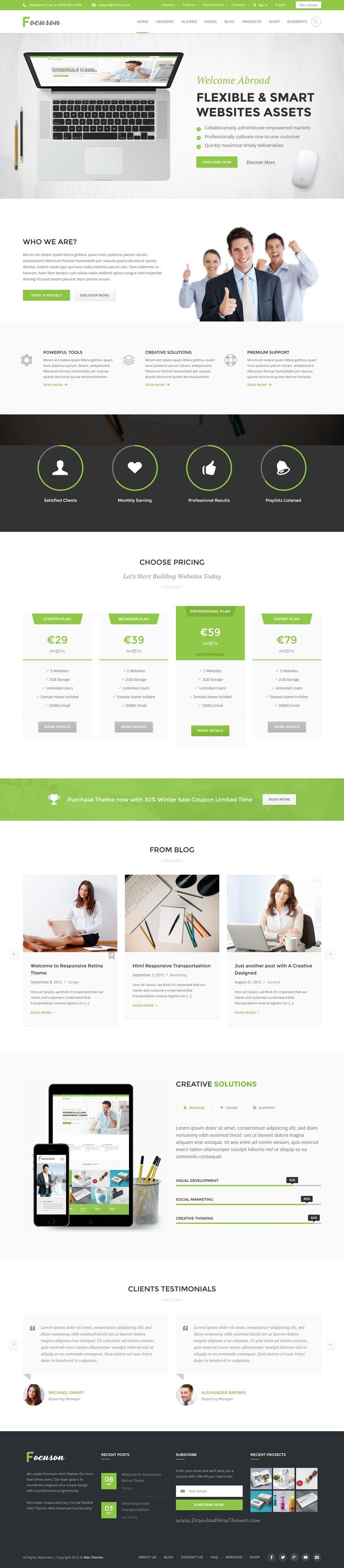 Focuson is a beautiufully design responsive #HTML #template for multipurpose #business website with 10 stunning homepage layouts download now➯ https://themeforest.net/item/focuson-business-html-theme/17184687?ref=Datasata