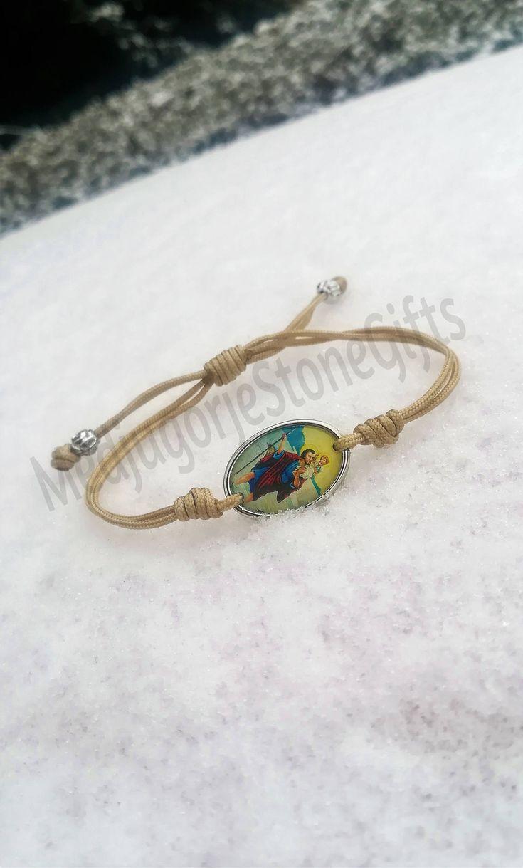 7.00$ St Christopher simple woven bracelet, catholic bracelet, patron saint bracelet #catholic #bracelet #stchristopher #saint #medals #medjugorjestonegifts #blessingbracelet #catholicjewelry http://etsy.me/2o1NaUD