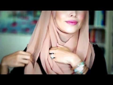 tutorial hijab pashmina 1hijab tutorial style - YouTube