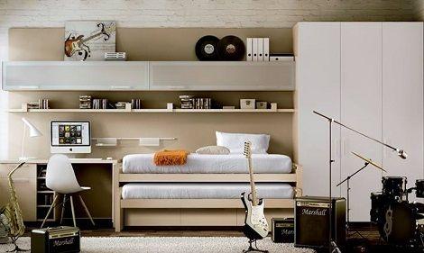17 beste idee n over kast bureau op pinterest kast kantoor kast draaide kantoor en knutselhoek - Tiener slaapkamer kleur ...