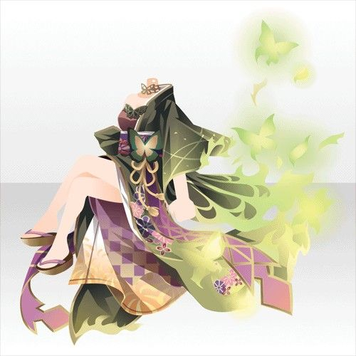 @trade | 華美な紅蓮の魔女スタイルB 緑