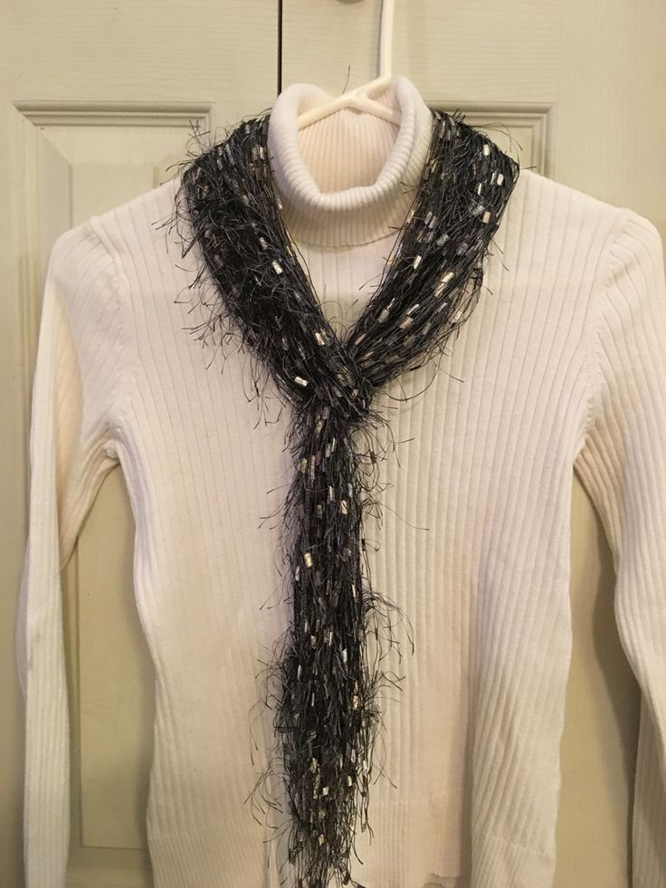Eyelash Yarn Knitting Patterns Scarf: Eyelash yarn knit scarf ...