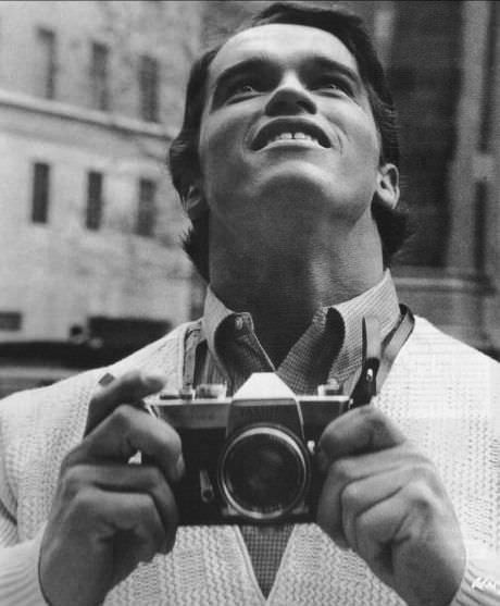 Arnold Schwarzenegger in New York for the first time in 1968