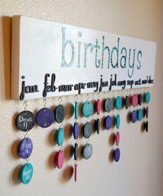 diy calendario cumpleaños