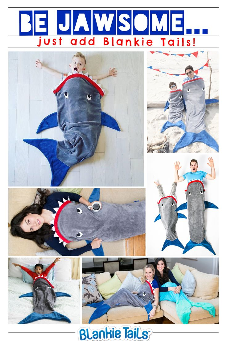 Shark Week is just around the corner...can you think of a more JAWESOME gift to celebrate than a Blankie Tails™ Shark Blanket?! #thesnuggleisreal