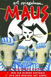 4 ex Maus är den kritikerrosade och numera klassiska serieromanen som handlar om författarens far, Vladek Spiegelman, som överlevde Förintelsen.     I Maus skildras judarna som möss och nazisterna som katter - och i den tecknade seriens form förmår historien om Hitlers skräckvälde återigen att chockera oss.