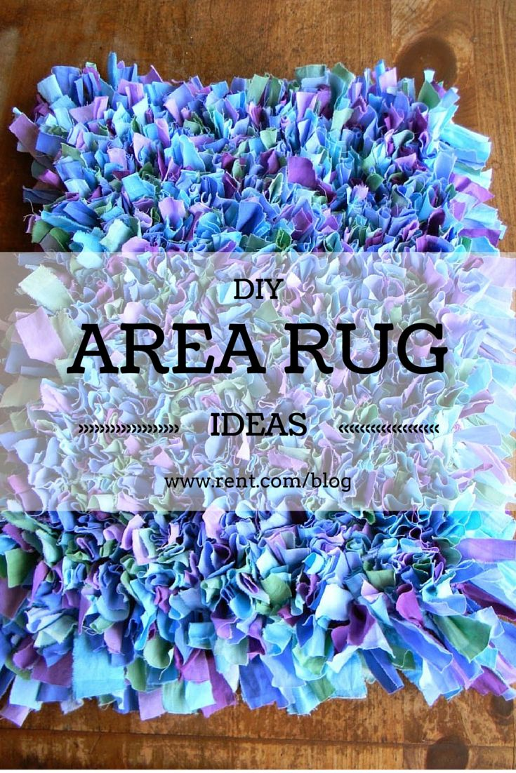 Decorate your rental with area rugs! But why spend a fortune on them when you can make your own? Here's how you can make your own rug! #diy #craft #rug #decor  http://www.rent.com/blog/diy-area-rug-ideas/