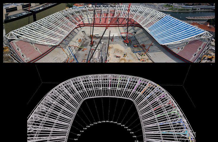 Proyecto de construcción del estadio de San Mamés. #sanmames #arquitectura #construccion #estructuras #paisvasco #bilbao #futbol #estadio #architecture #construction #soccer #stadium #basquecountry #integralia #integraliagrupo