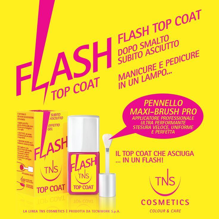 Flash Top Coat: smalto asciutto in pochi minuti, per 7 giorni di bellezza per mani e piedi!