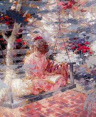"""""""Summer Whispers"""", Harrison Rucker (1930 - ), American / BL"""