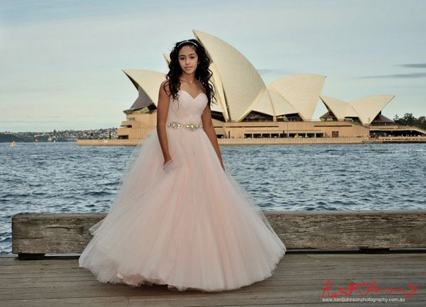 Special XV Quinceañera dress & Birthday portrait in Sydney. Photographed by Kent Johnson.