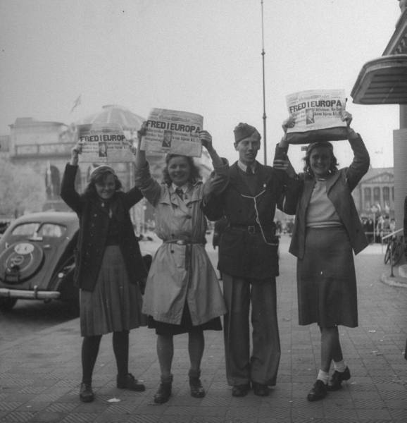 Denmarks liberation 1945, at Kgs. Nytorv