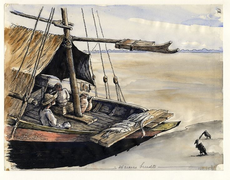 Market boat, Ver-o-Pezo, Belém by Adolf Melchior, 1954. Museon, CC BY