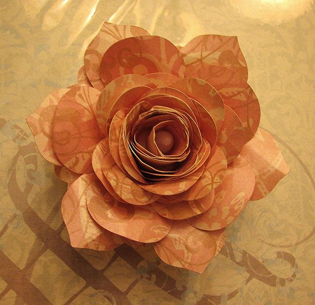 Cricut Mother's Day Decor. Paper Flower Candle - Top View. Flower Shoppe Cartridge.