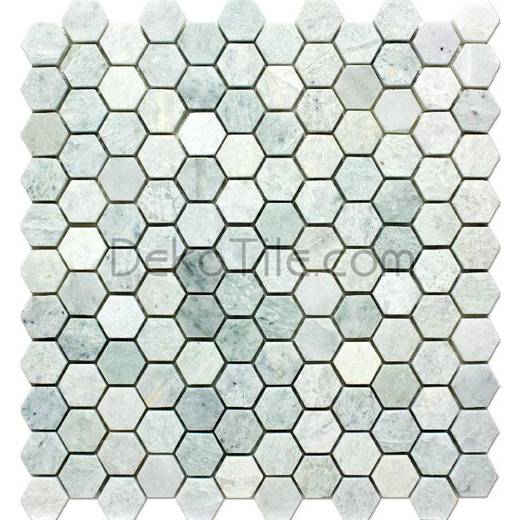 1 inch Hexagon Polished Ming Green Mosaic Tile http://www.dekotile.com/store/1-inch-Hexagon-Polished-Ming-Green-Mosaic-Tile.html