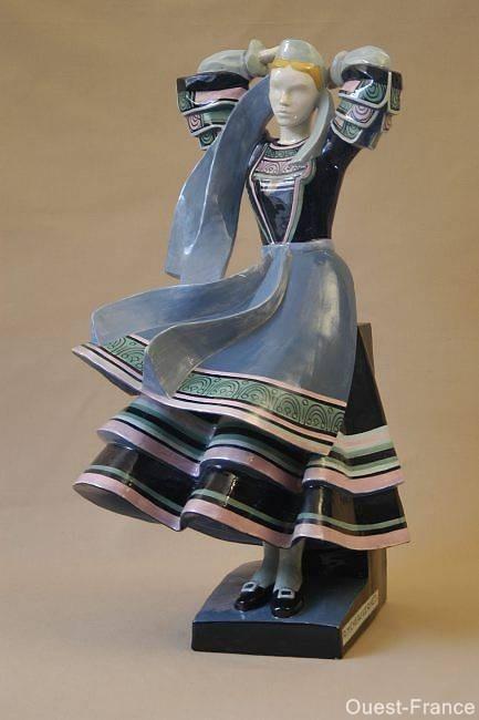 Henriot Quimper pottery figurine