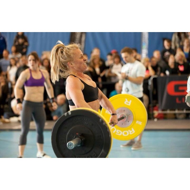 Work out 2 at CrossFit regionals, 30 (135 lbs) HP Cleans