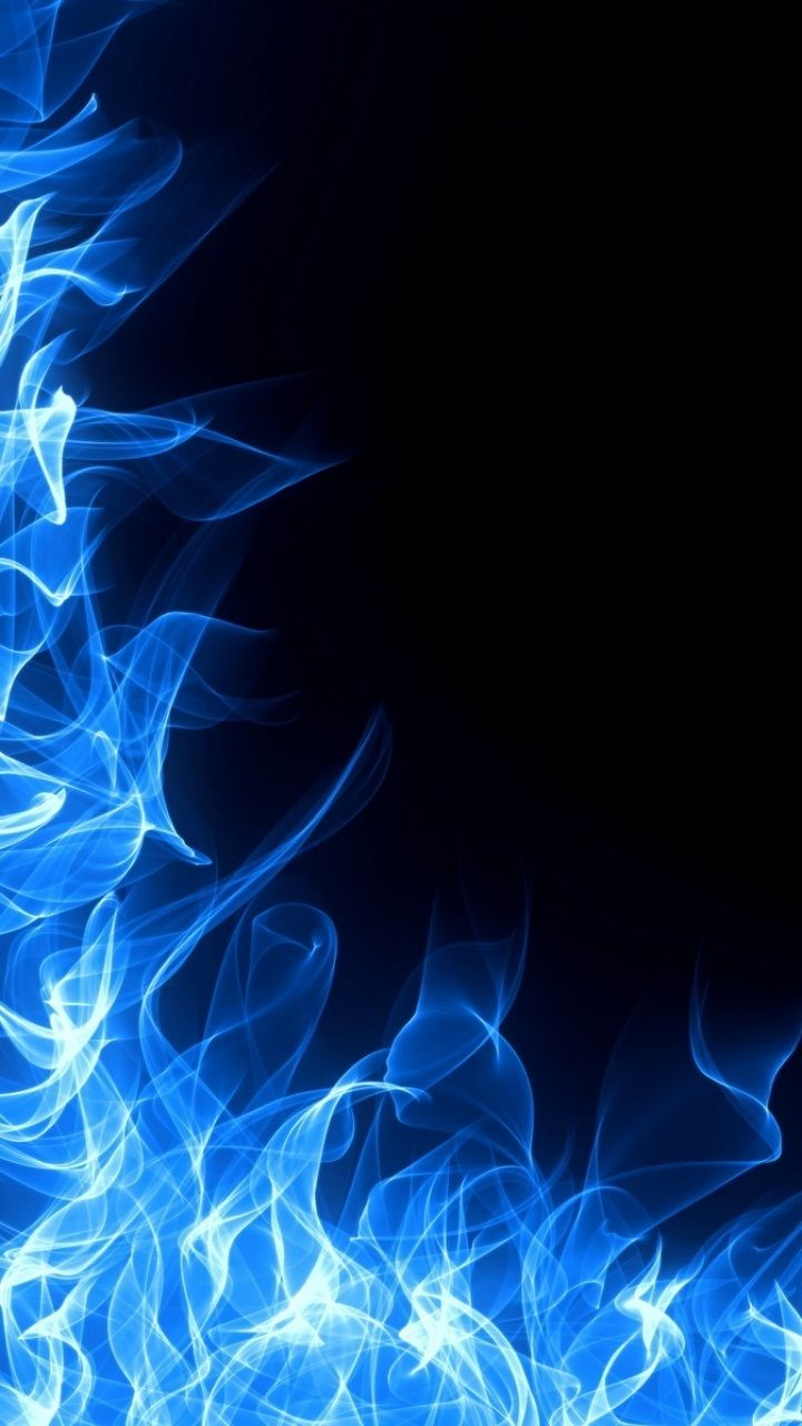 Blue Fire Iphone Wallpaper