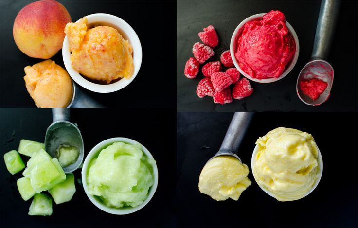 Deliciously refreshing, Easy Fruit Sorbet with just 3 ingredients! Perfect summer treat and the best way to take advantage of the summer fruit bounty!
