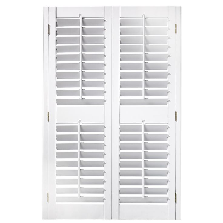 White Shutters 35 37 In X 54 In Plantation Faux Wood