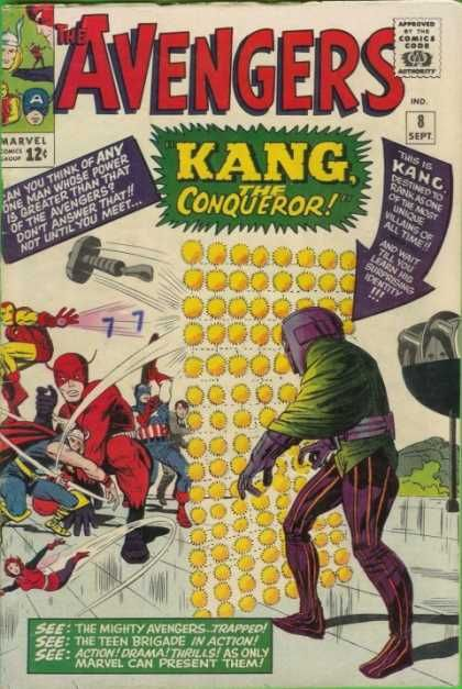 "Ethan Watrell's ""History of the Modern Comic Book"" class: Books Covers, Jack Kirby, Marvel Comic, Comic Books, Jack O'Connell, Comic Covers, Kang, Comic Art, The Avengers"