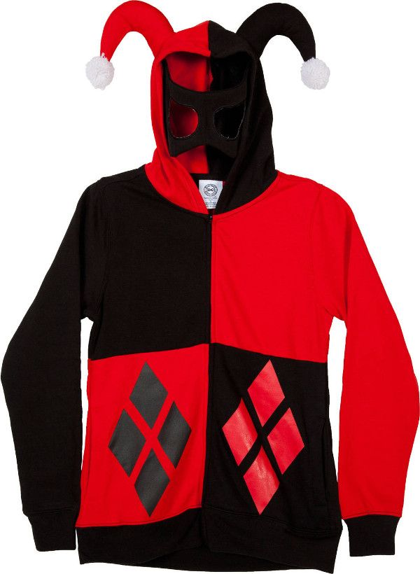 e888f356056 The Official Harley Quinn Jester Hoodie