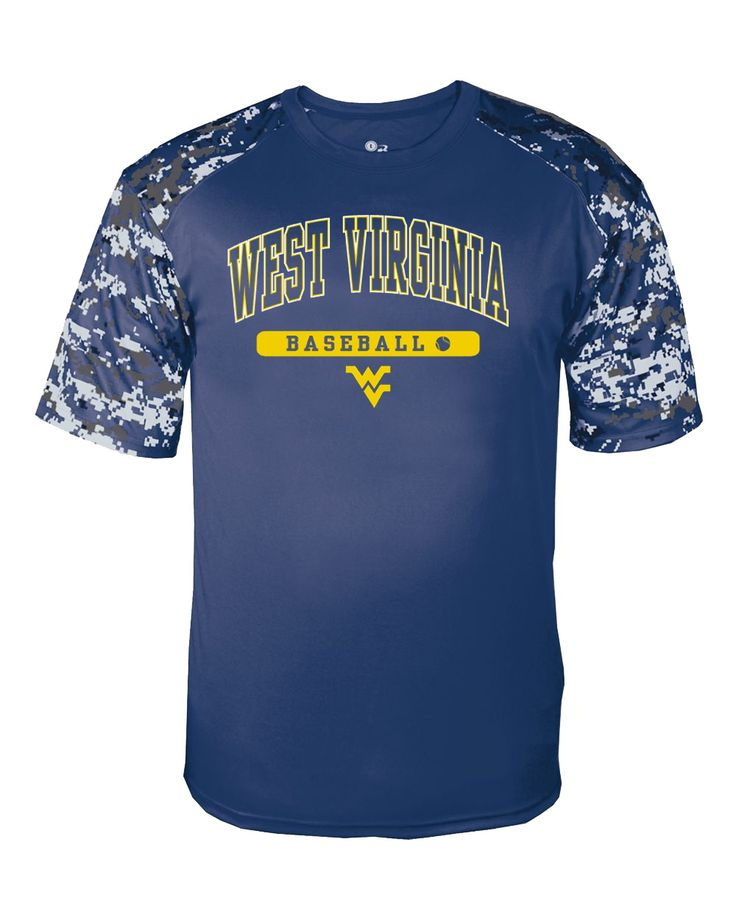 You'll be ready for some Big XII Baseball when you wear this WVU Baseball digital sport performance tee to cheer on The Mountaineers!