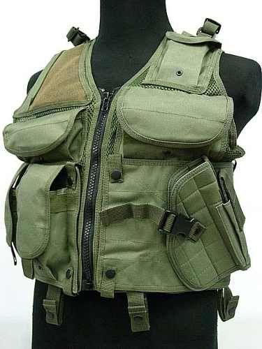 Colete Tático De Assalto Hunting - Airsoft - Militar - Verde - R$ 189,99