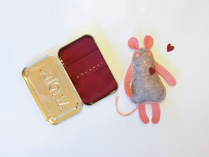 valentine's day mouse craft