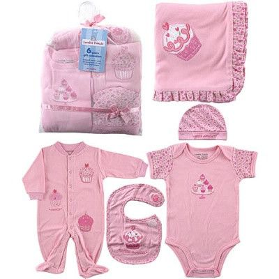 Tiny Pinky - 6-Piece Baby Girls Cupcake Gift Collection $24