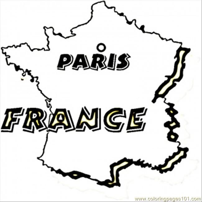 France Paris Coloring Page For Kids And Adults From Countries Pages
