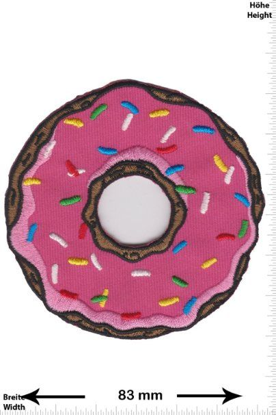 Parches - Donuts - Fun Parches - Adult - Chaleco - Parche Termoadhesivos Bordado Apliques - Patch - Give Away Regalar