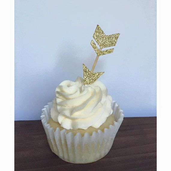 Glitter Arrow Cupcake Toppers Set of 12 Pick by TheLittlePopShop