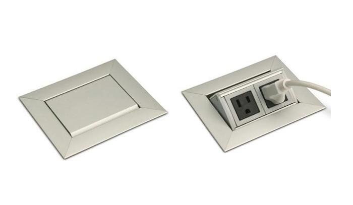 Countertop Outlet : Lew Electrics PUFP-CT Countertop Pop Up Outlet: Electrical Outlets ...