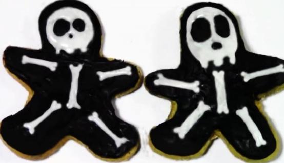 Halloween Gingerbread Skeleton Cookies