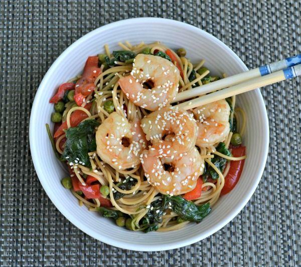 japanese shrimp noodle bowl: Shrimp Noodles, Bowls Full, Asian Bowls, Asian Food, Healthy Bowls, Shrimp Bowls, Dinners Bowls, Noodles Bowls, Chinese Shrimp