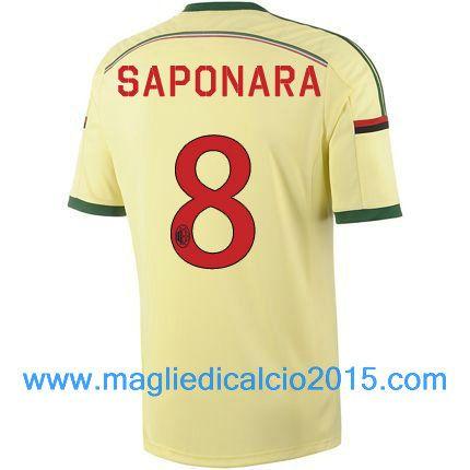 AC Milan magliette da calcio 2014/2015 Saponara 8-Trasferta