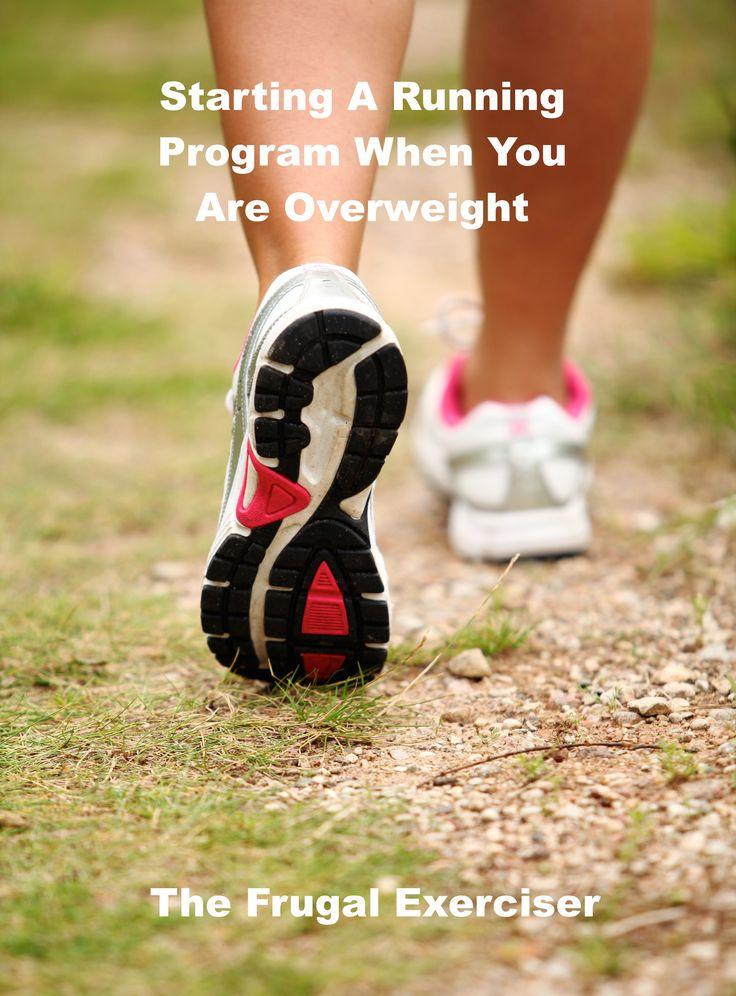 Starting a running program when overweight. Overweight or over 40, give this running program a try. #running #weightloss