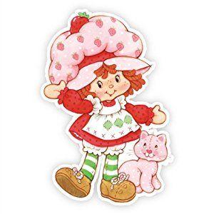 Amazon.com: Walls 360 Peel & Stick Wall Decals: Classic Strawberry Shortcake and Custard II (8 in x 12 in): Strawberry Shortcake: Home & Kitchen