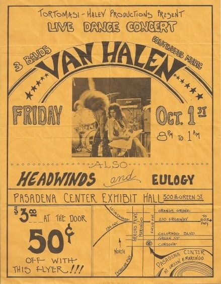 Image result for vintage van halen concert poster
