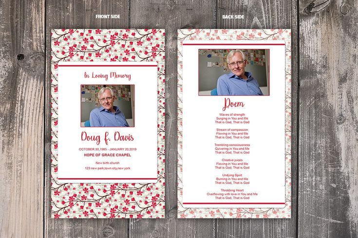 Excited to share the latest addition to my #etsy shop: Funeral Prayer Card Template | Editable MS Word & Photoshop Template | Instant Download http://etsy.me/2nY0c52 #everythingelse #graphicdesign #funeralmemorial #memoralprogram #funeralkeepsakes #mswordtemplate